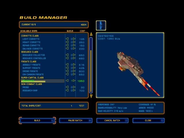 لعبة Homeworld الفضائية لحرب النجوم