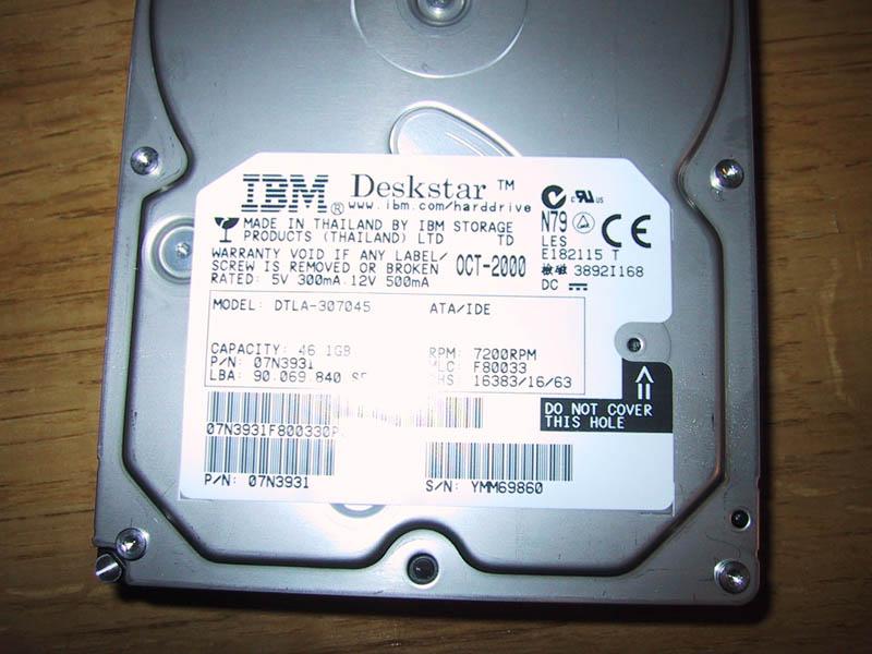 IBM Deskstar 75GXP DTLA-307045
